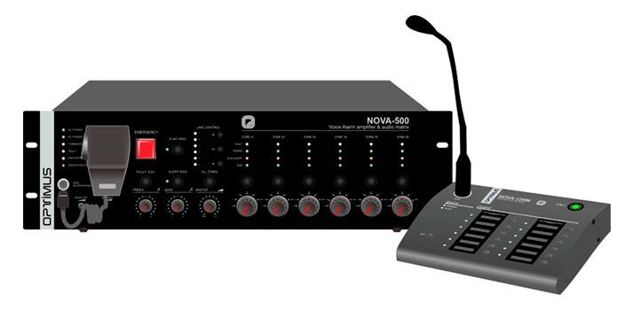 Sistema de megafonía NOVA de Optimus