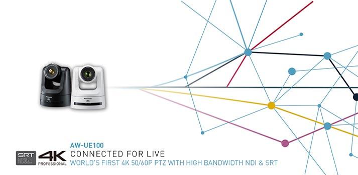 Imagen promocional de la nueva cámara PTZ AQ-UE100 de Panasonic