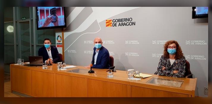 Acto de presentación del acuerdo de colaboración entre el Gobierno de Aragón y Google Arts & Culture