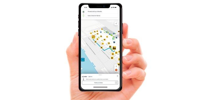Aplicación Aena Maps desarrollada por Telefónica Empresas