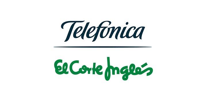 Logo de Telefónica y El Corte Inglés