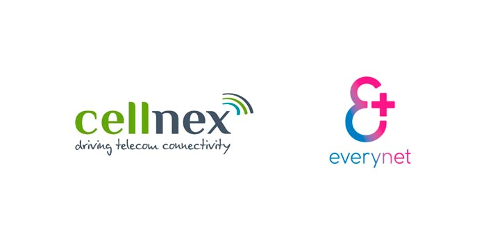 Logotipos de Cellnex y Everynet