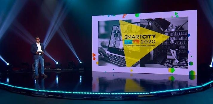 Plató de Smart City Live impulsado por el grupo Mediapro