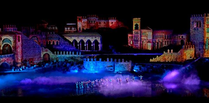 Imagen panorámica del espectáculo El Sueño de Toledo