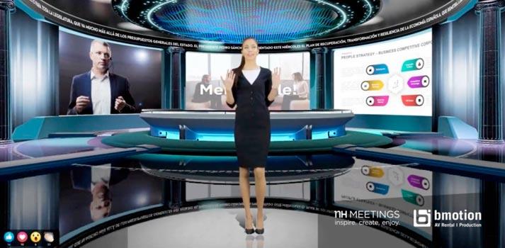 Propuesta de plató virtual habilitada por bmotion en los hoteles NH