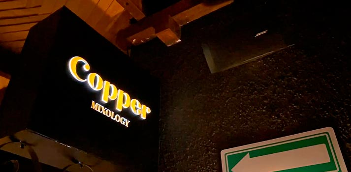 Bar Cooper Mixology con altavoces de Bose Profesional