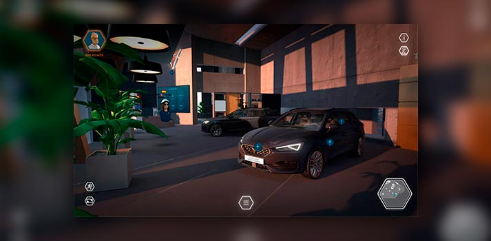 Captura del espacio virtual CUPRA eGarage