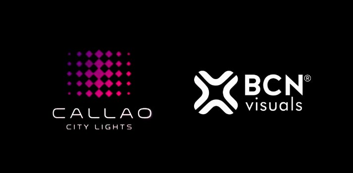 Logotipos de Callao City Lights y BCN Visuals