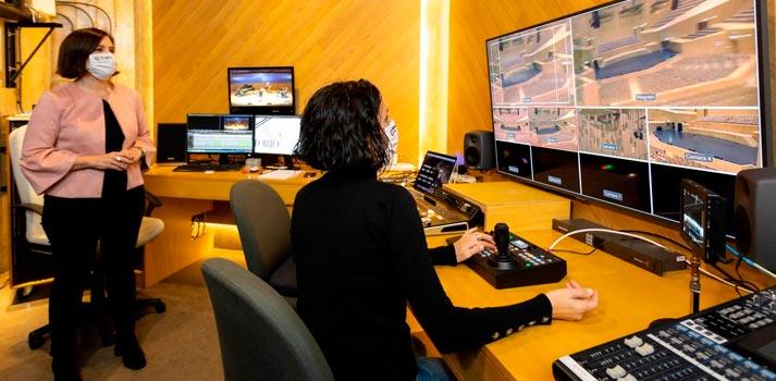 Sala de control implementada recientemente en el Auditorio de Zaragoza
