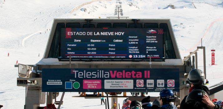 Instalación de Digital Signage impulsada por BGL en la Estación de Esquí de Sierra Nevada