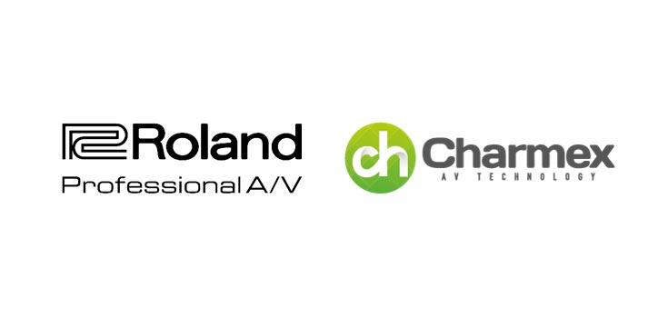 Logos de Roland ProAV y Charmex