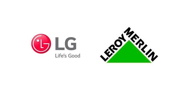 Logotipos de LG y Leroy Merlin