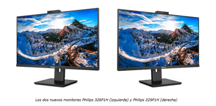 Monitores Philips MMD 326P1H y 329P1H