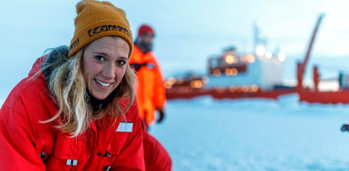 Expedición al ártico con micrófonos de Sennheiser. Foto: Mario Hoppmann