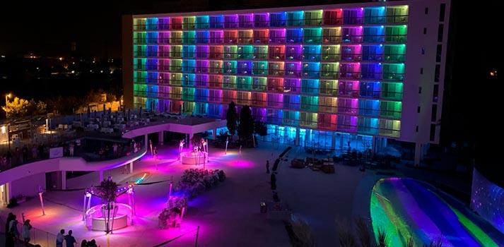 Hotel The Ibiza Twins - Iluminación nocturna