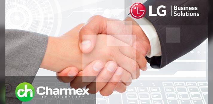 Acuerdo entre Charmex y LG Business Solutions