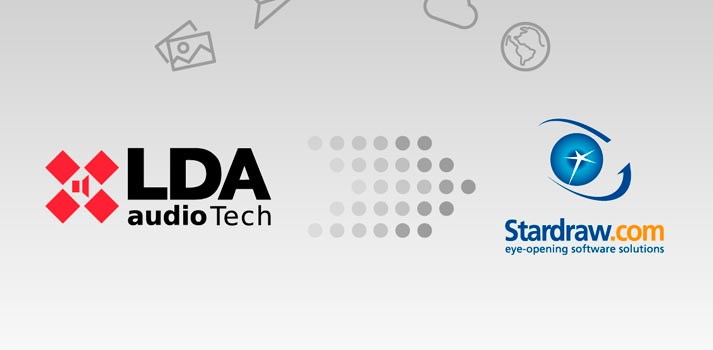 Logos de LDA Audio Tech y de Stardraw Design