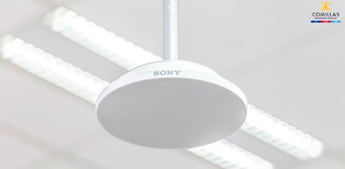 Micrófono Mas A100 de Sony implementado en la Universidad de Comillas
