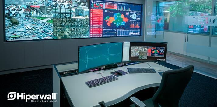 Aplicación del software Hiperwall en un entorno de control