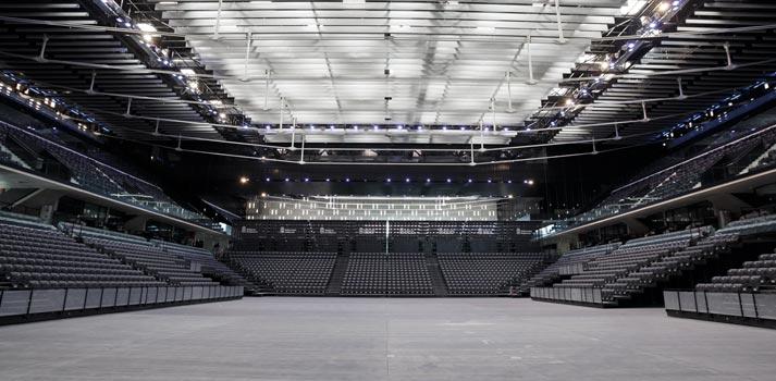 Interior del pabellón Navarra Arena