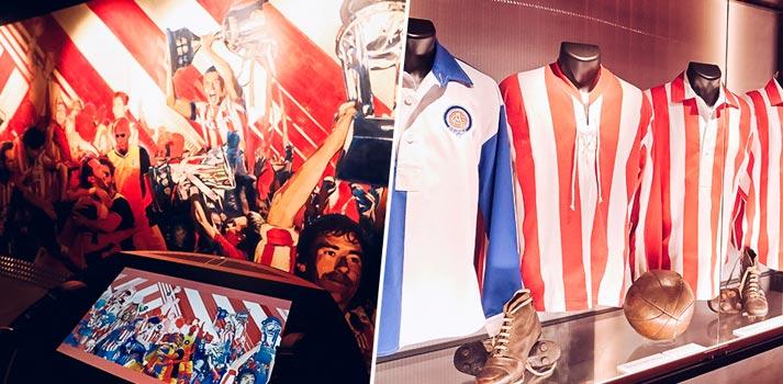 Interior del museo Territorio Atleti del Atlético de Madrid