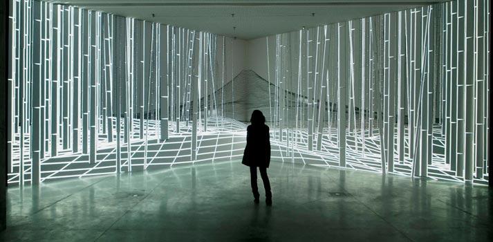 Una de las piezas de videoarte expuestas en la Fundación Telefónica - Obra FUJI