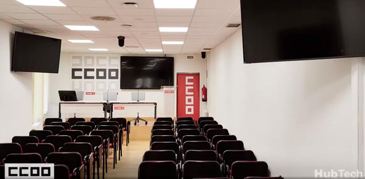 Sala de prensa de CCOO - Aragón 2021 - Integrada por Hubtech