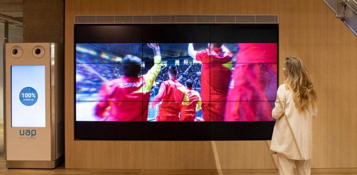 Videowall instalado en la Real Federación Española de Tenis