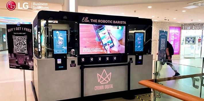 """LG instala pantallas OLED en la cafetería robótica """"Ella"""""""