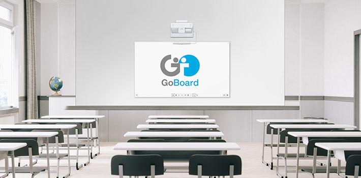 Educación colaborativa en remoto del sistema GoBoard Education de Epson